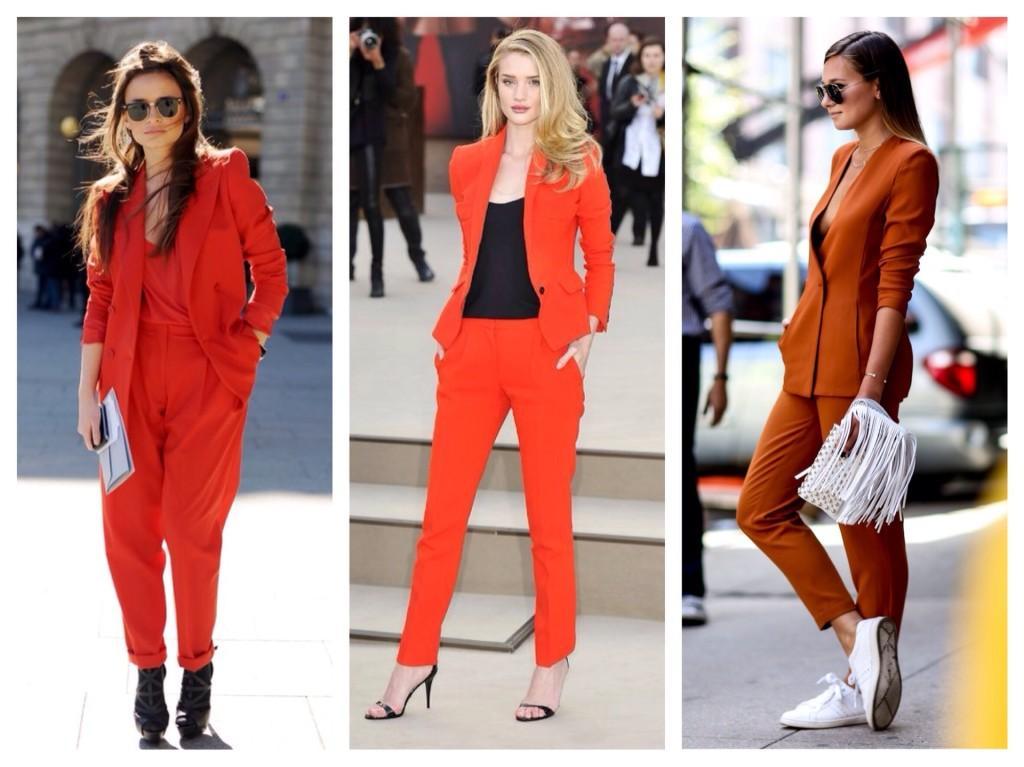 костюмы оранжевого цвета
