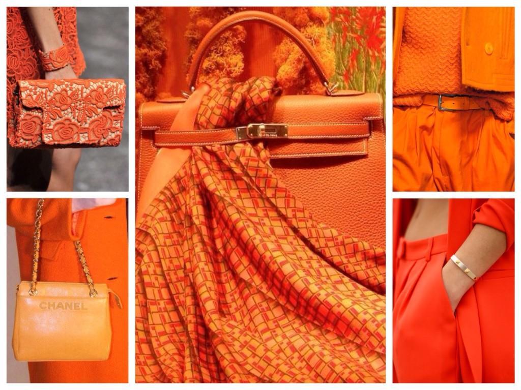 оттенки оранжевого цвета