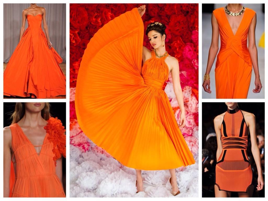 платья оранжевых тонов