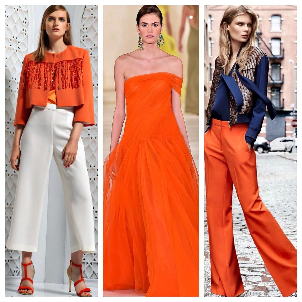 сочный оранжевый цвет