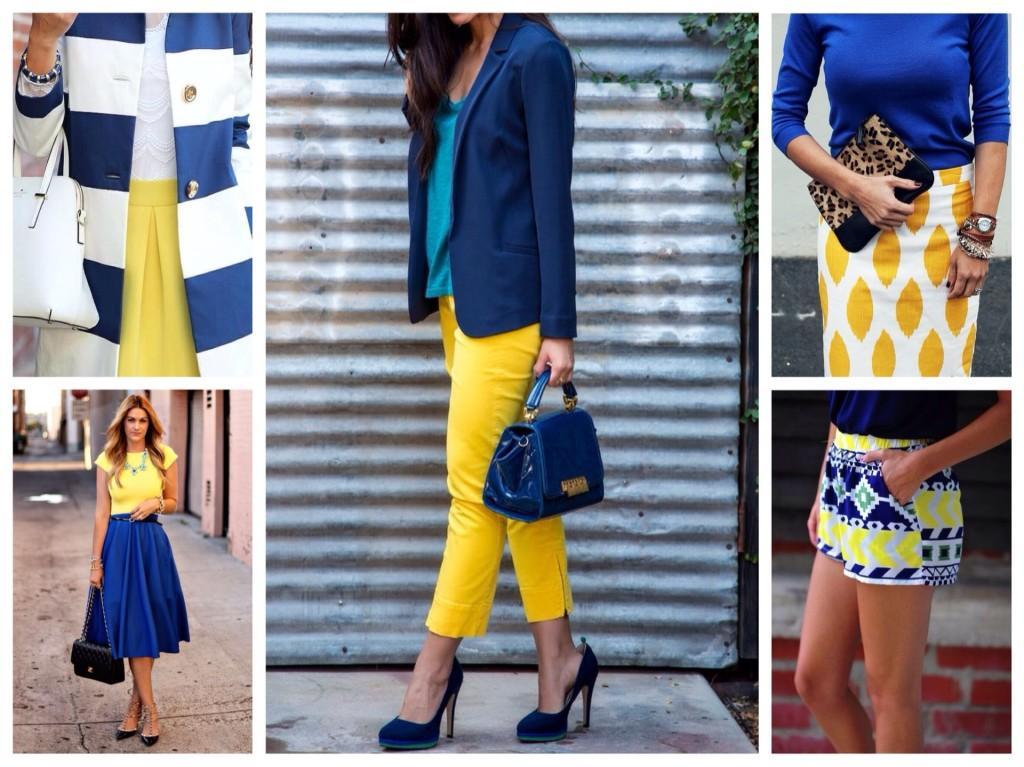 синий и желтый сочетания
