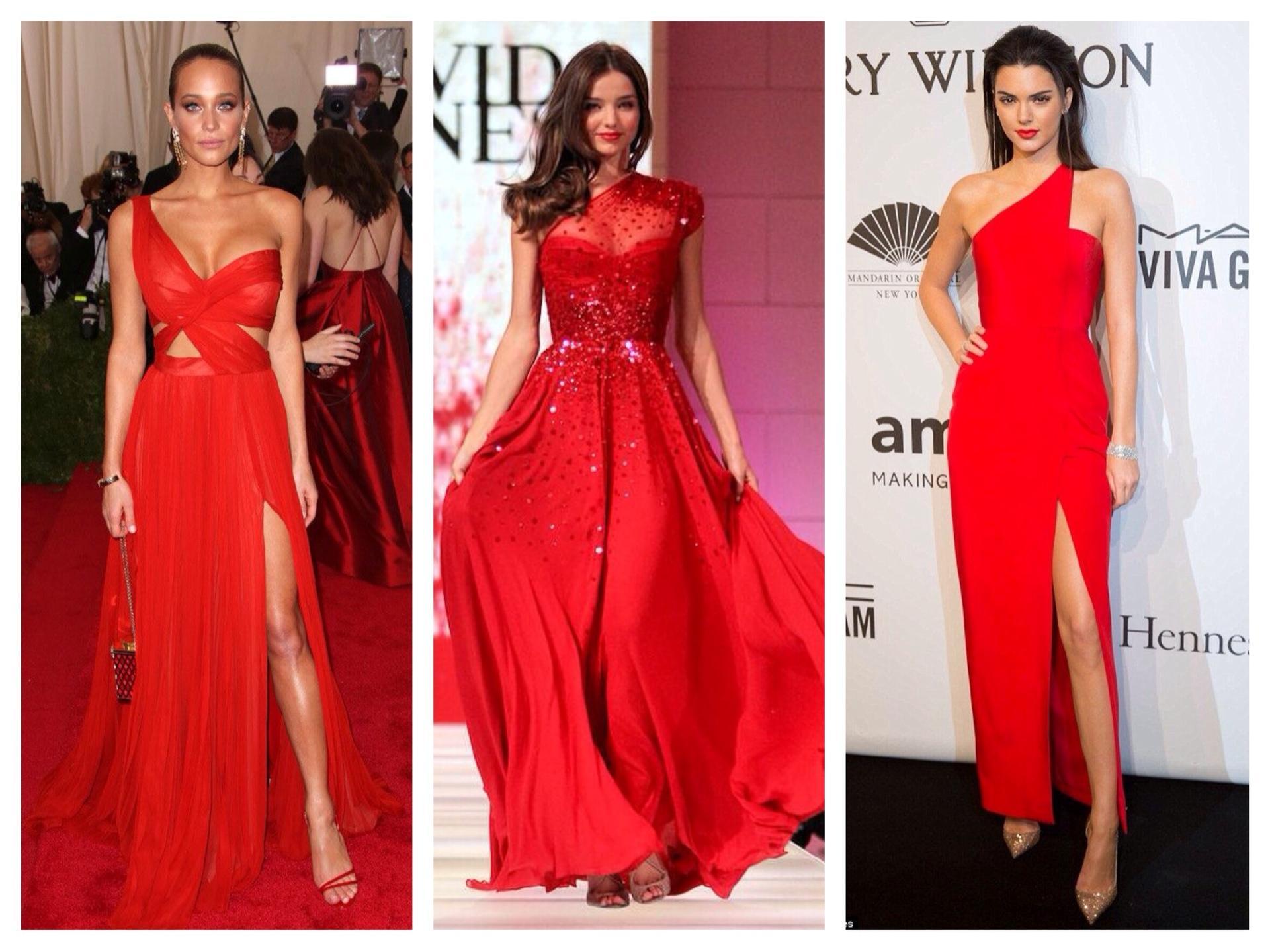 8e8b982aff0 С чем носить красное платье  фото