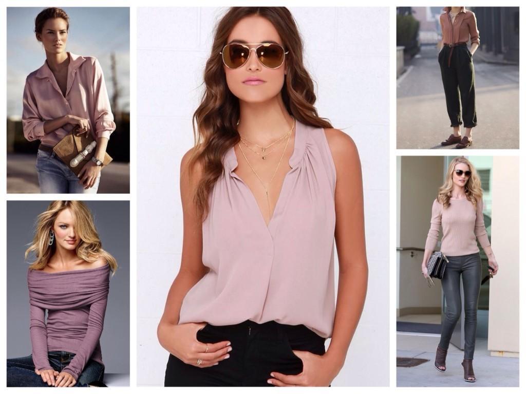 Блузки и рубашки лиловых оттенков