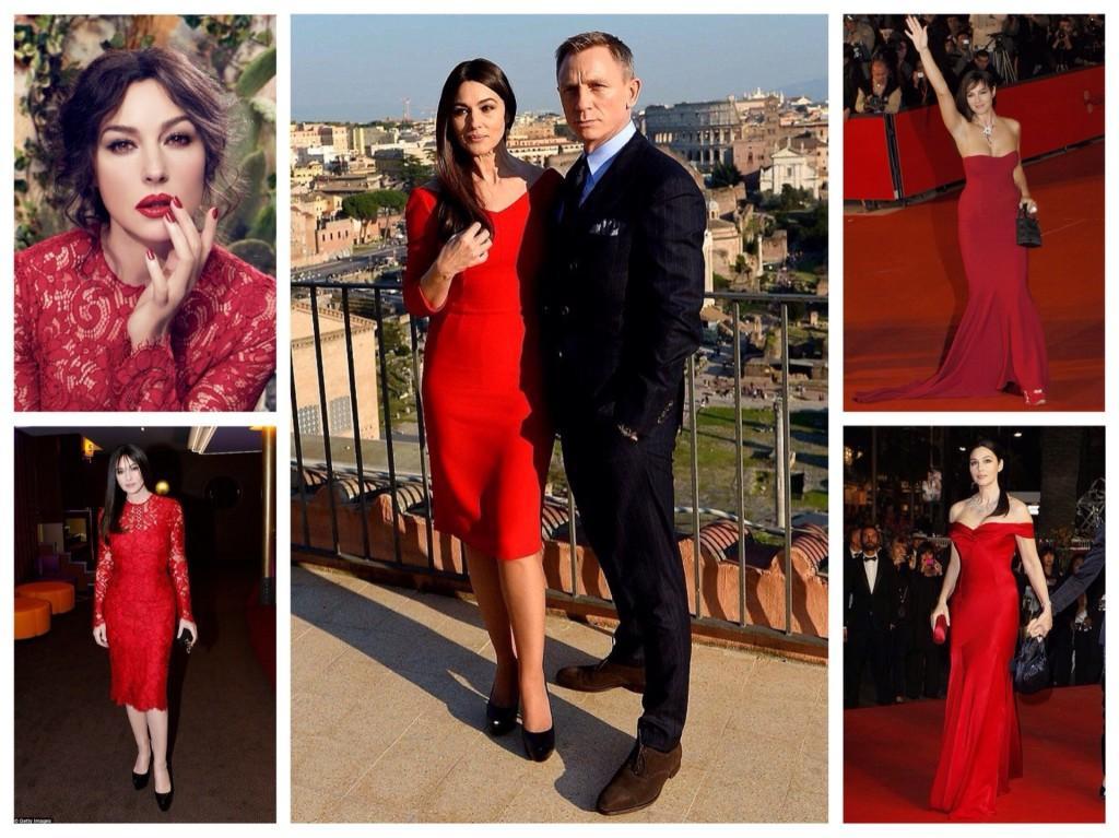 Моника Белуччи в красных платьях