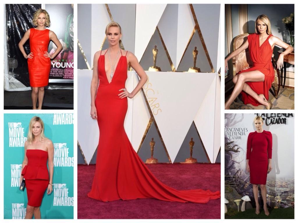 Красные платья Шарлиз Терон