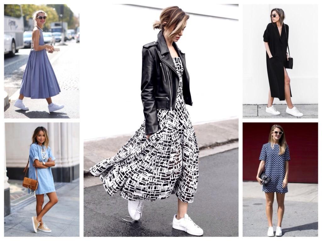 платья с кроссовками