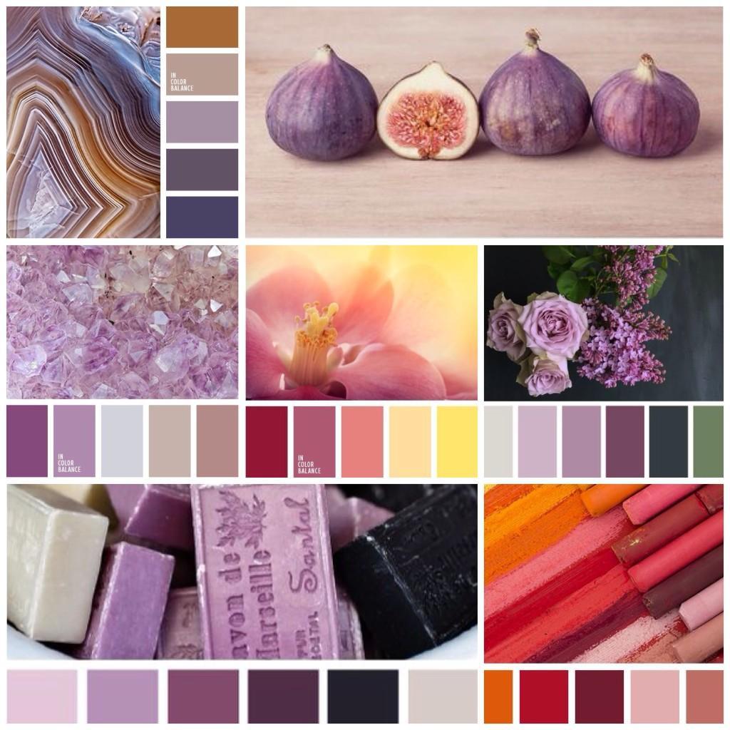 лиловый цвет и сочетания