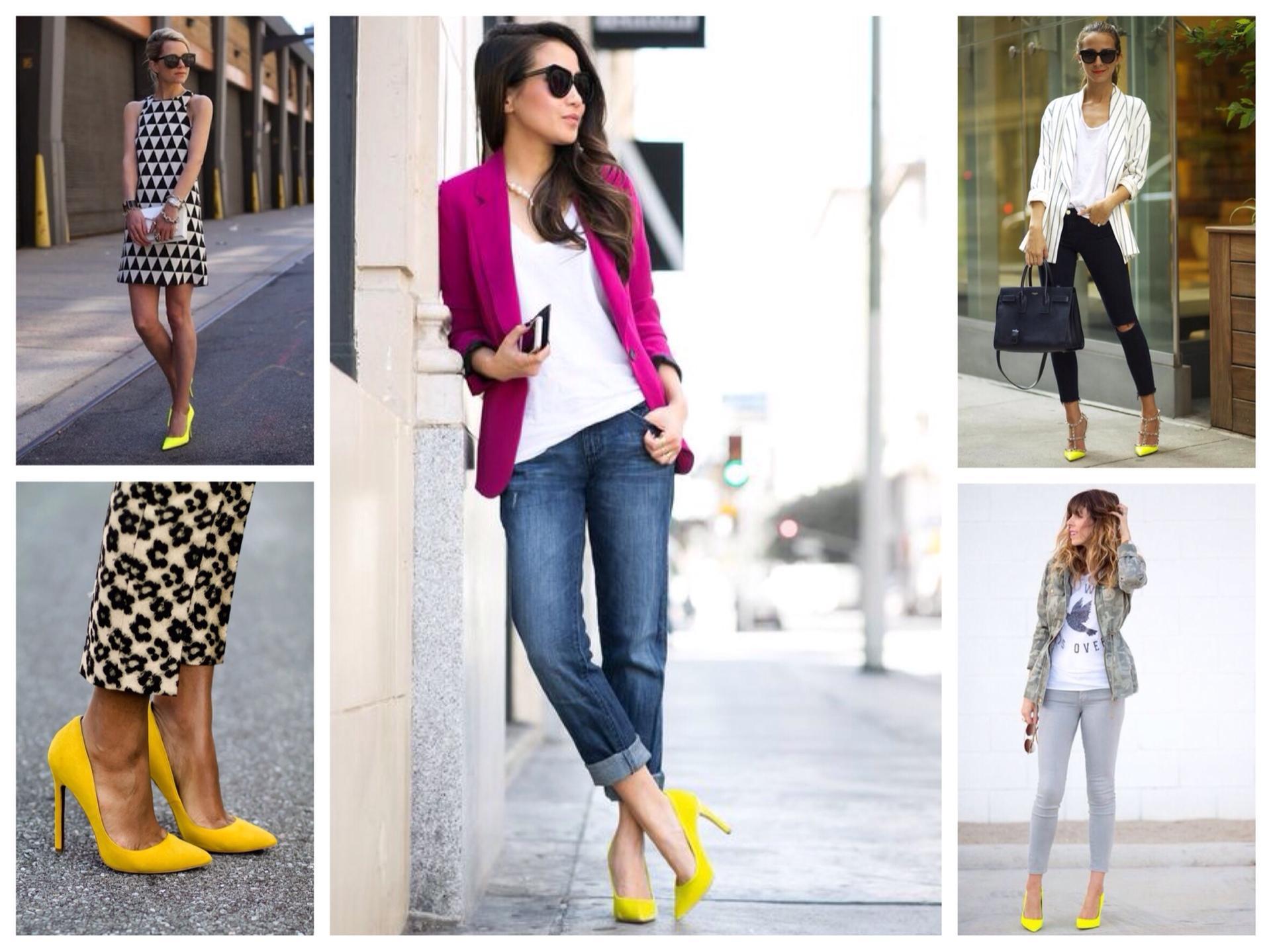 С чем носить обувь горчичного цвета