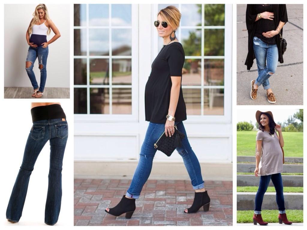 джинсы для беременных луки