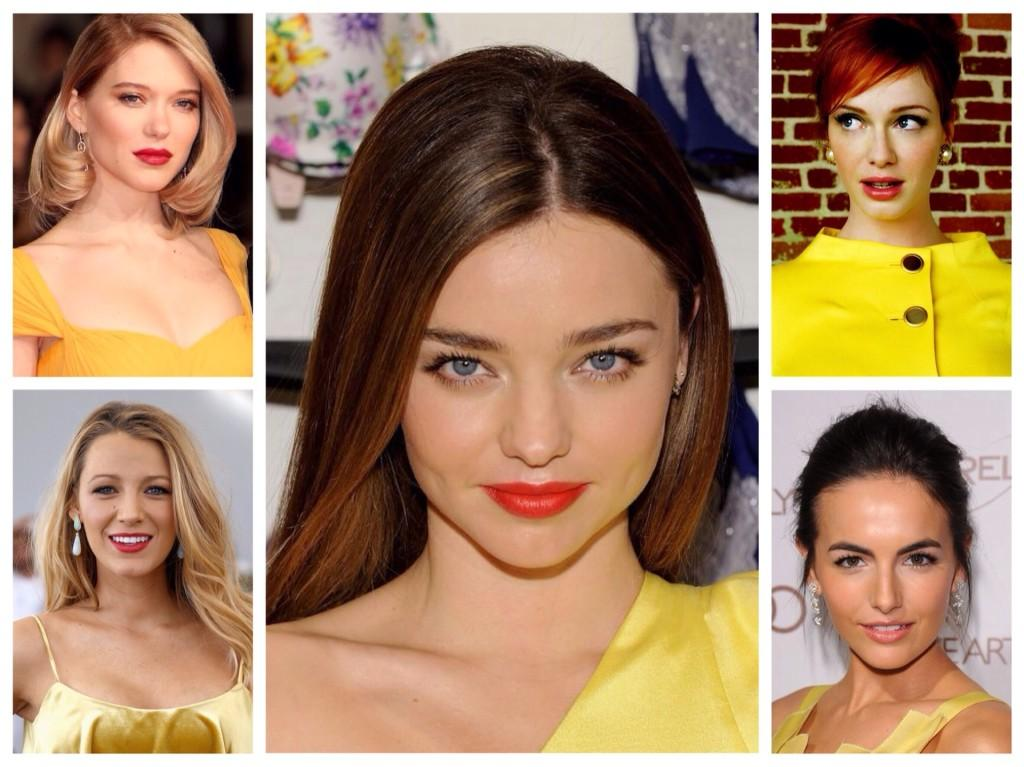 мейкап для желтого платья