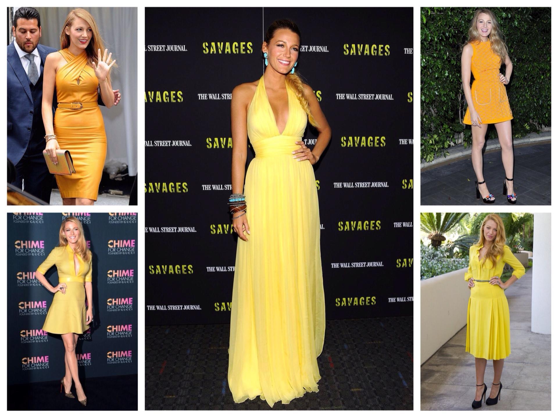Картинки желтые платья