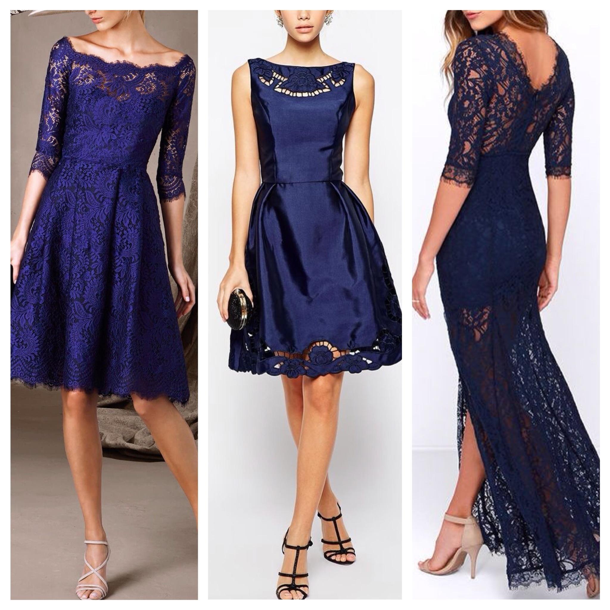 Темное Синее Платье
