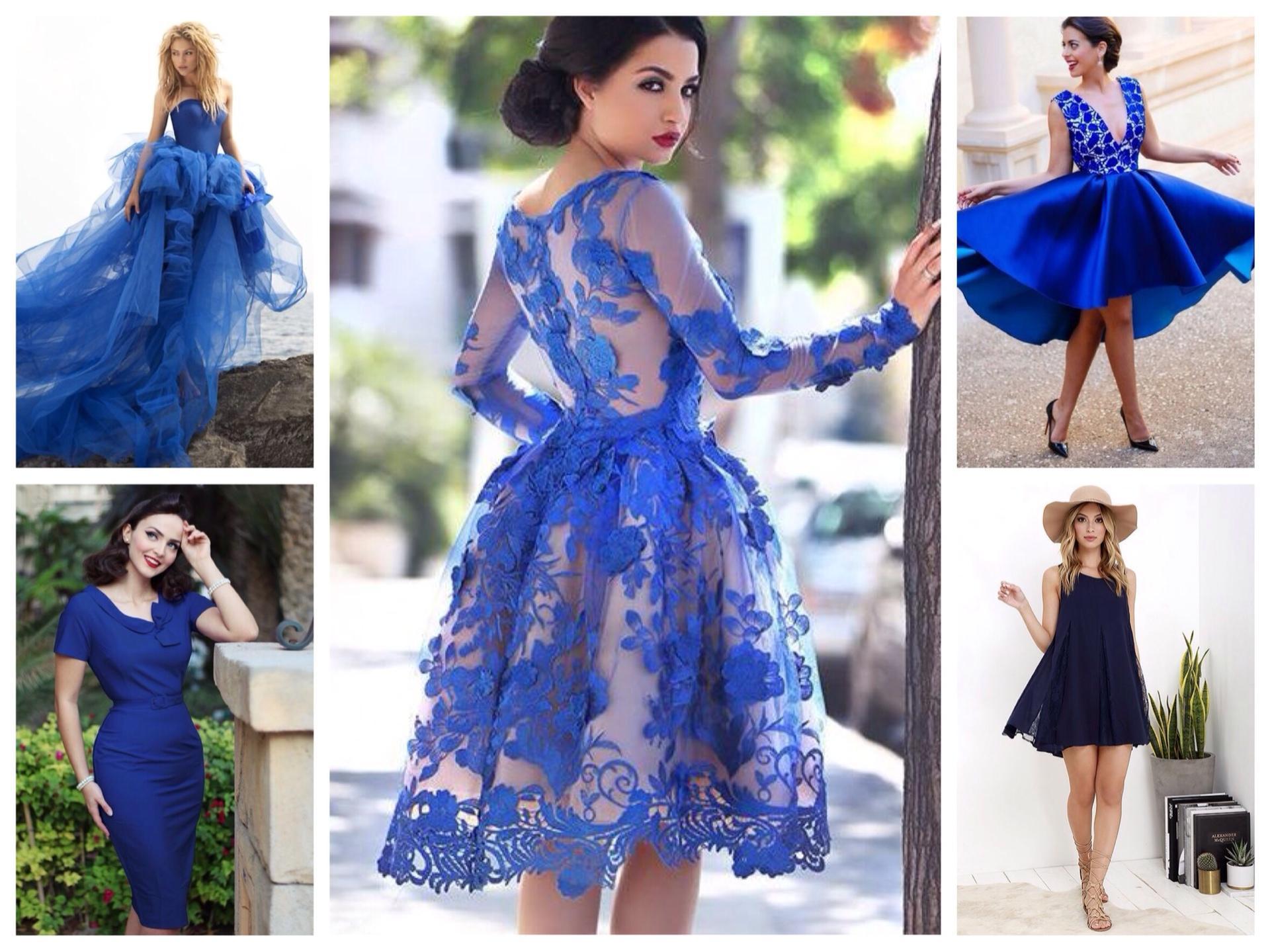 df7f7a3096f С чем носить синее платье  фото