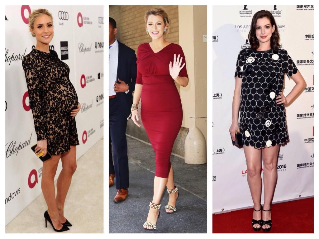 селебрити в платьях для беременных