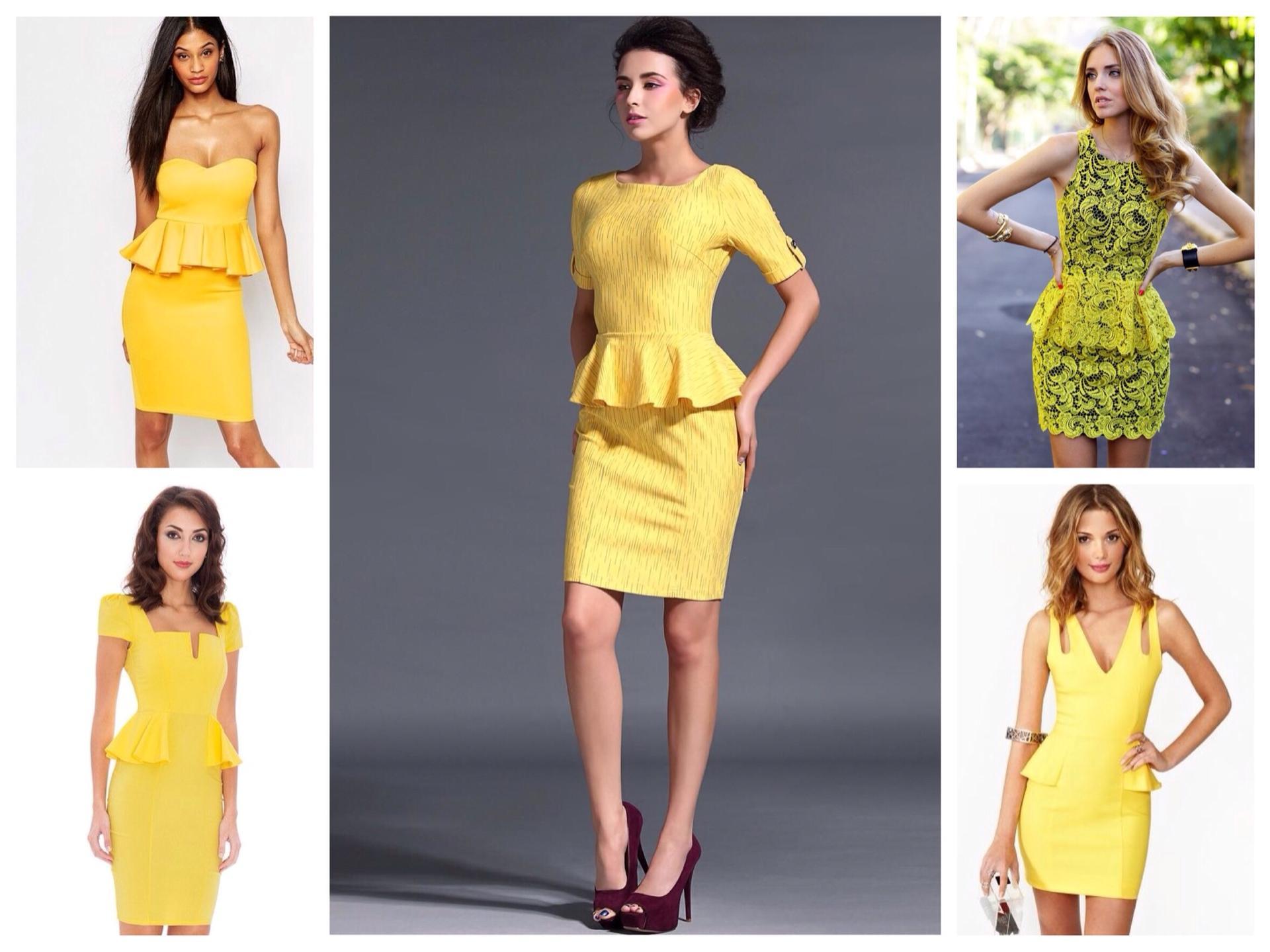 dc4e72cf21e Как и с чем носить желтые платья