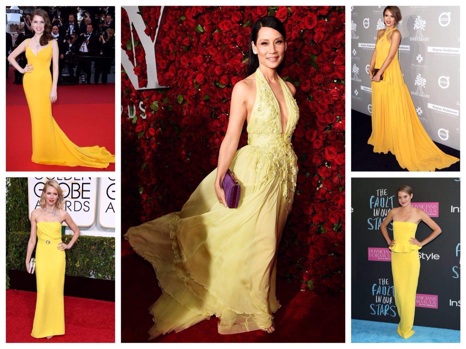платье желтое в пол фото