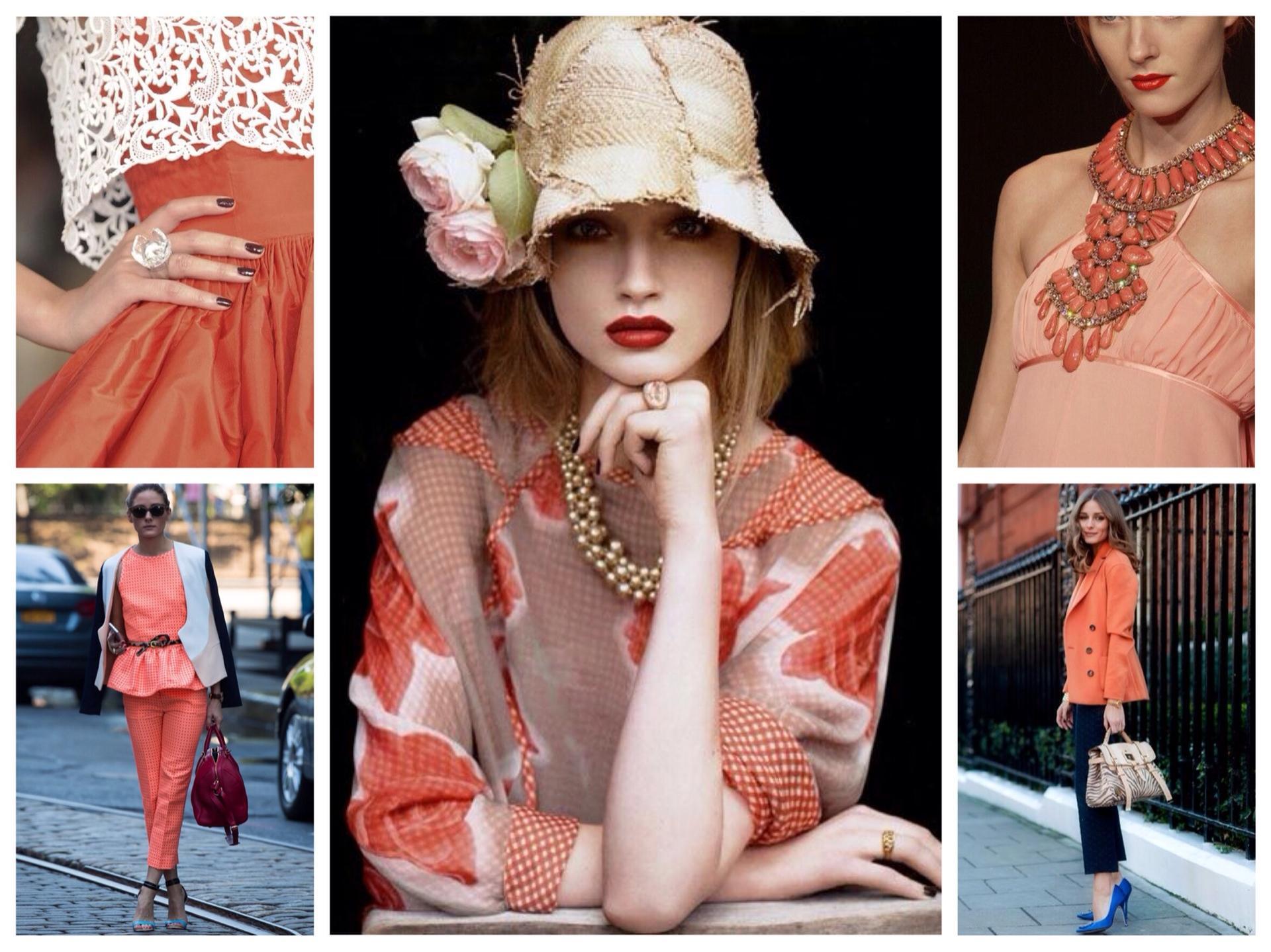 Коралловый цвет фото одежда