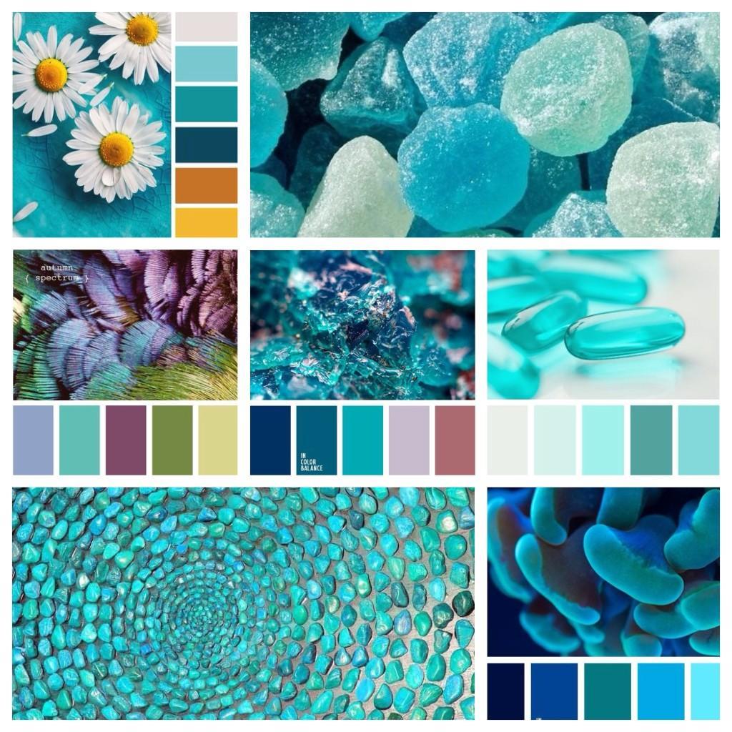 бирюзовый цвет сочетания