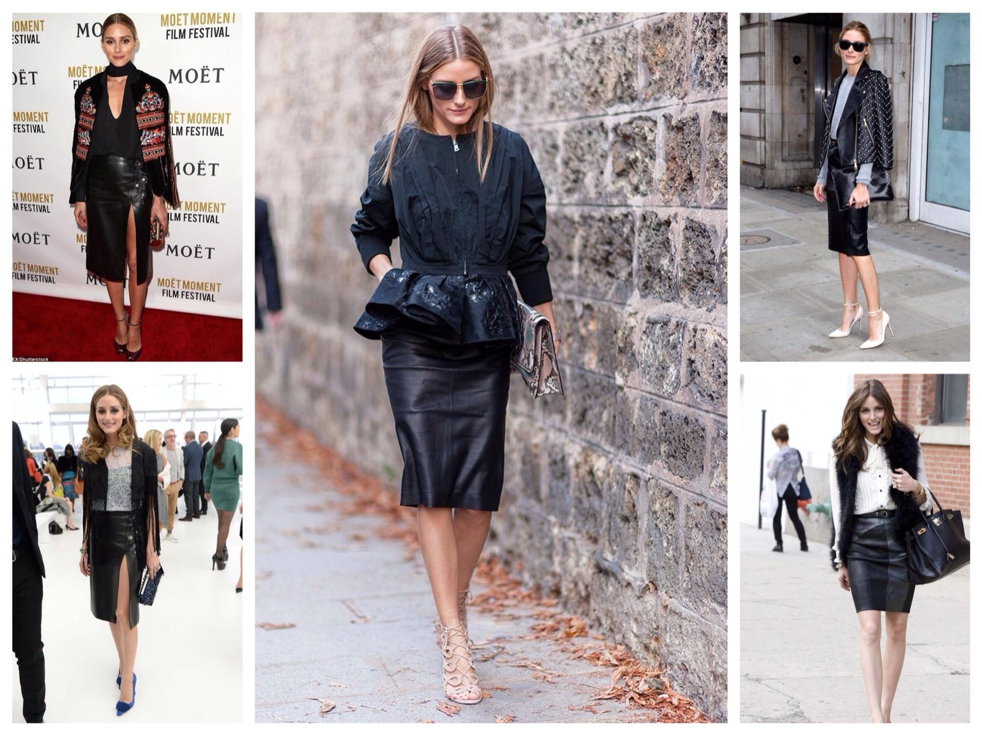 Короткая черная юбка