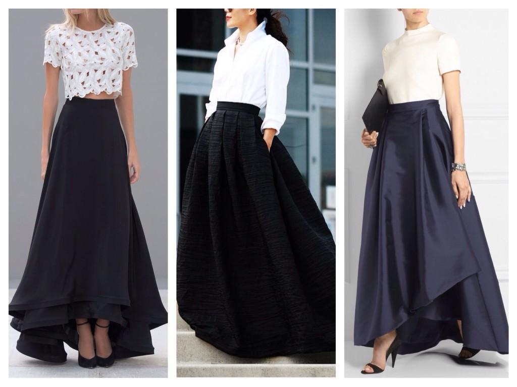 вечерние черные юбки