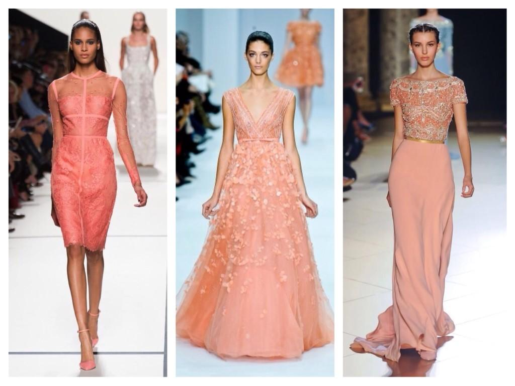 модели платьев с модных показов