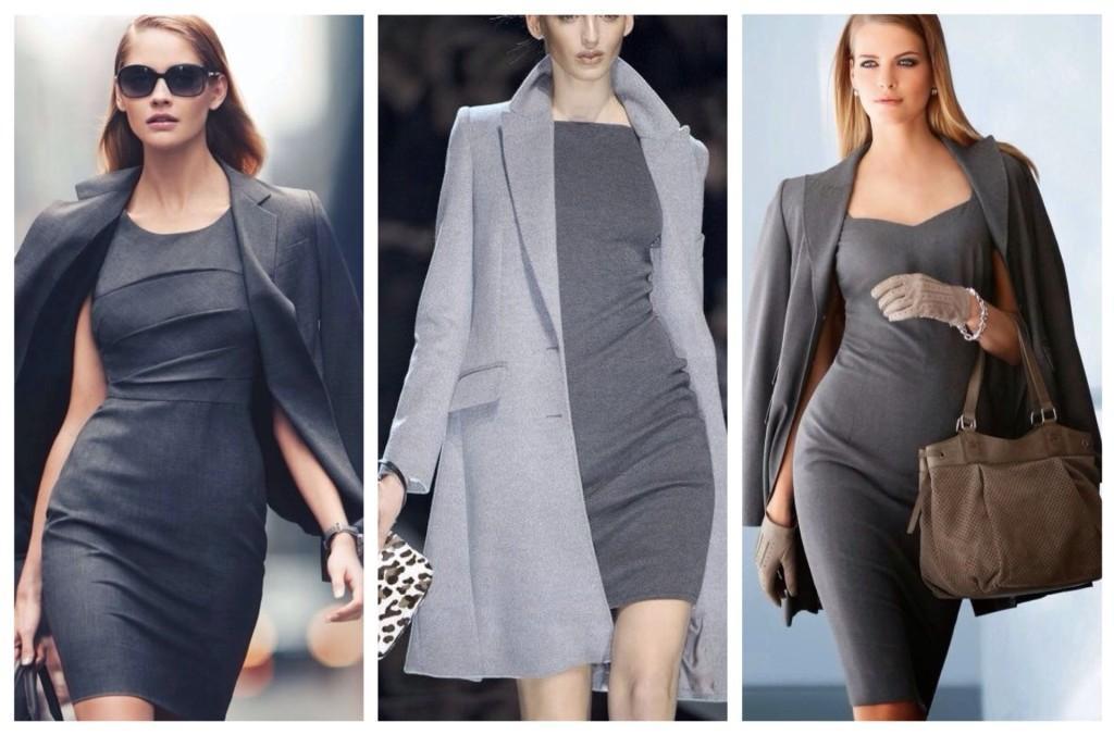 платья футляр с жакетами или пальто