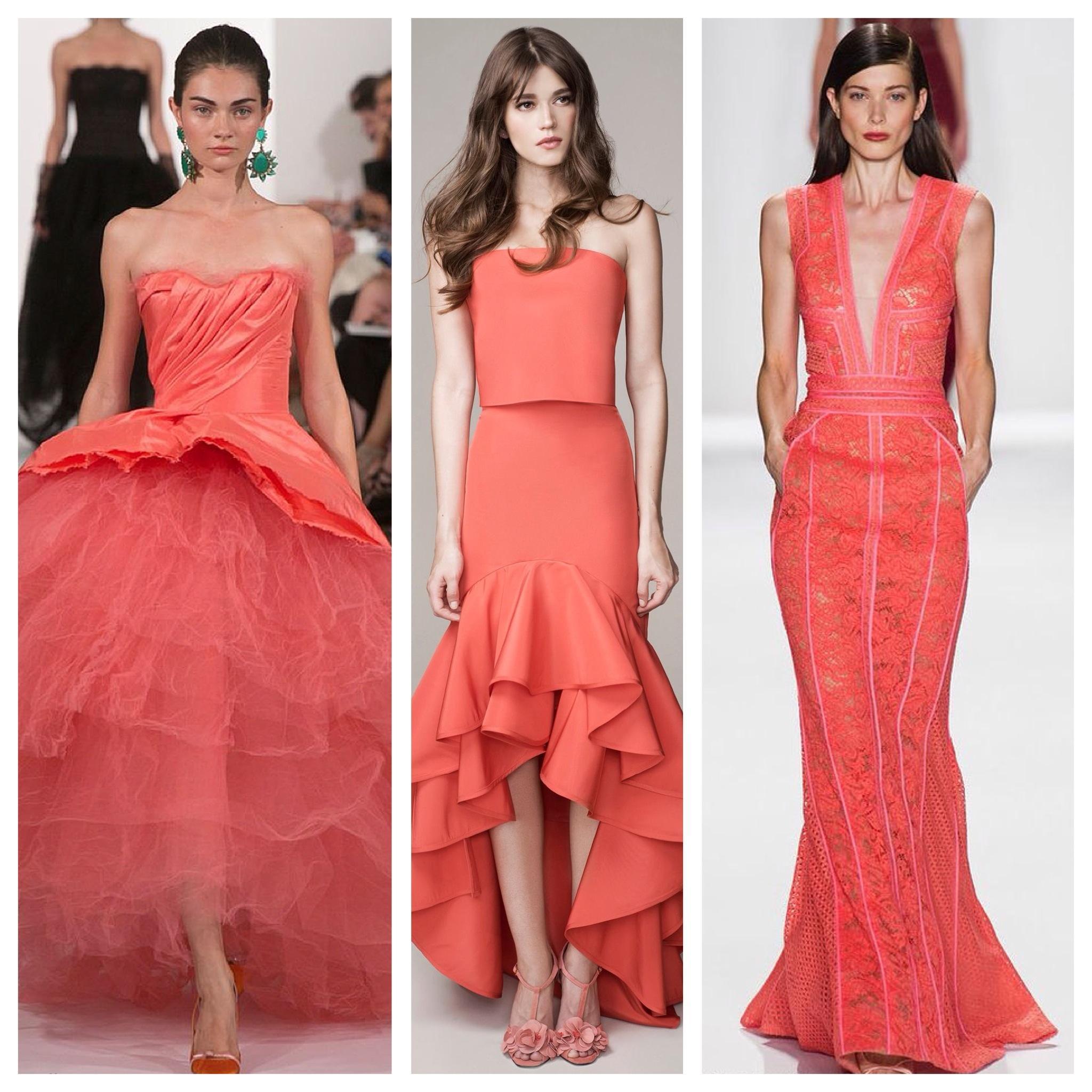 722a549a8d5e6a4 С чем носить коралловое платье: фото, идеи