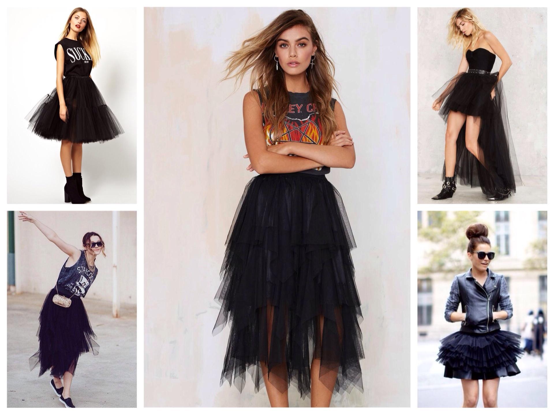 С чем надеть черную юбку в 2019 году