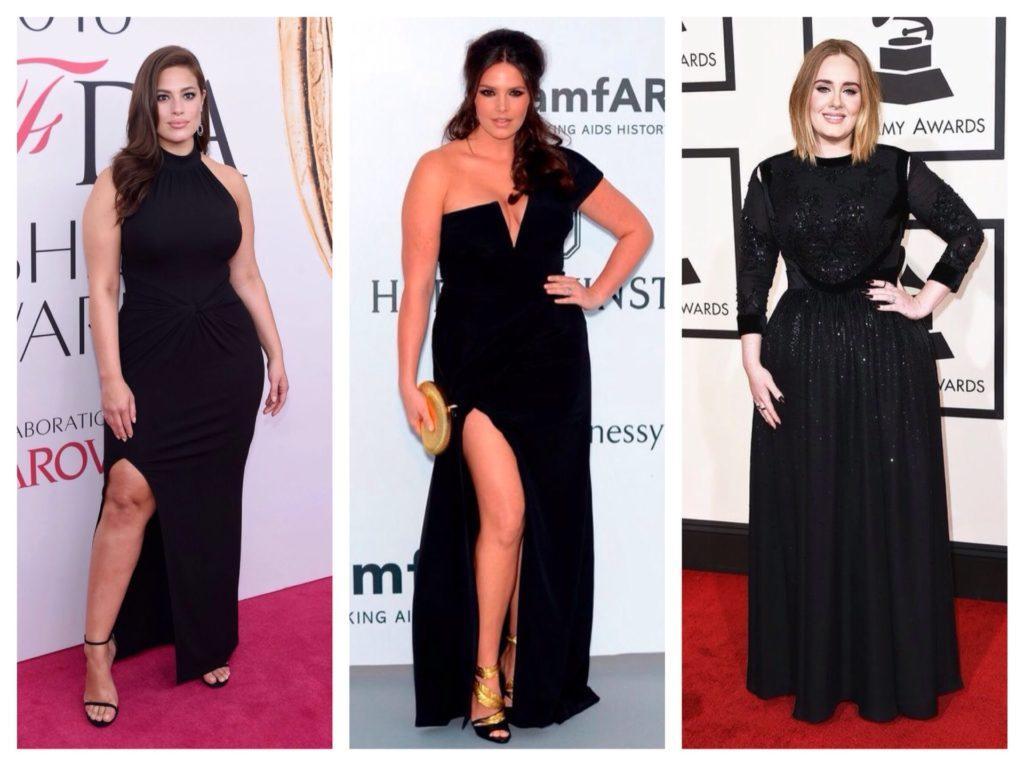 черные платья для полной фигуры