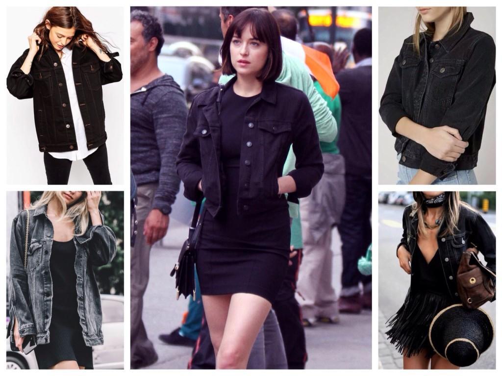 черные джинсовые куртки