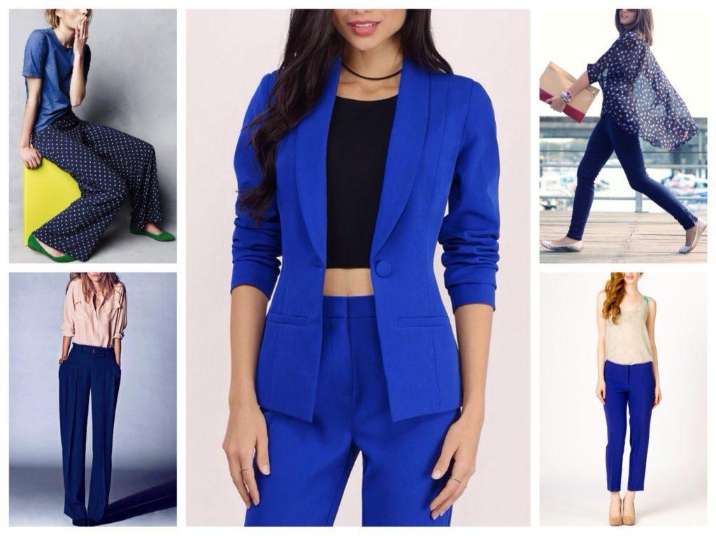 фасоны синих брюк