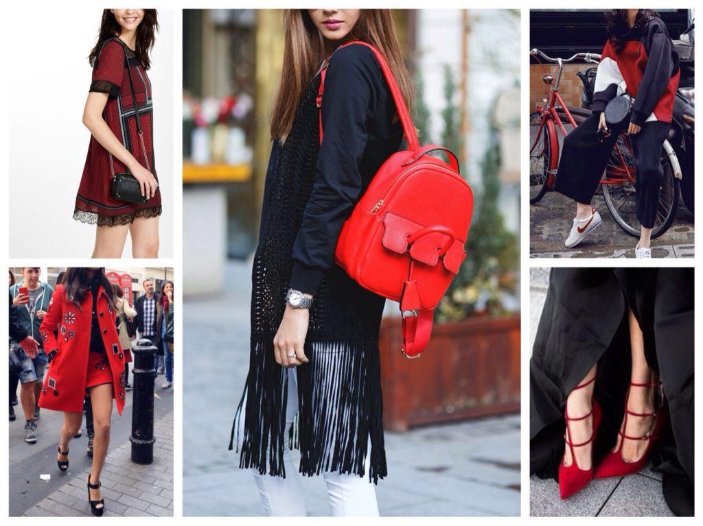 черный с красным в одежде