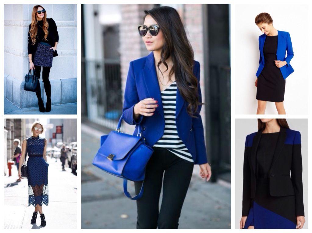 комплекты черного с синим