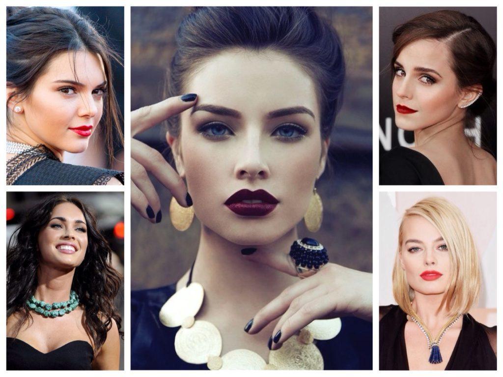 макияж для комплектов с черным