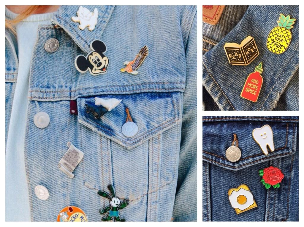 значки на джинсовой куртке