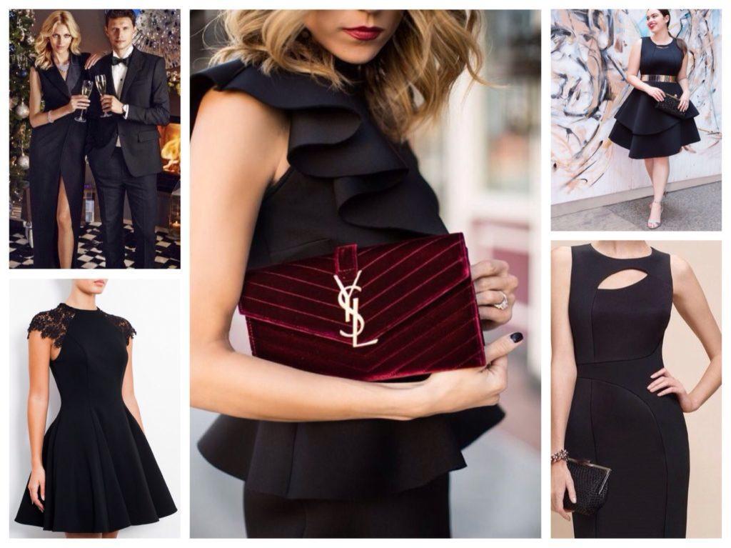 черные платья для нового года