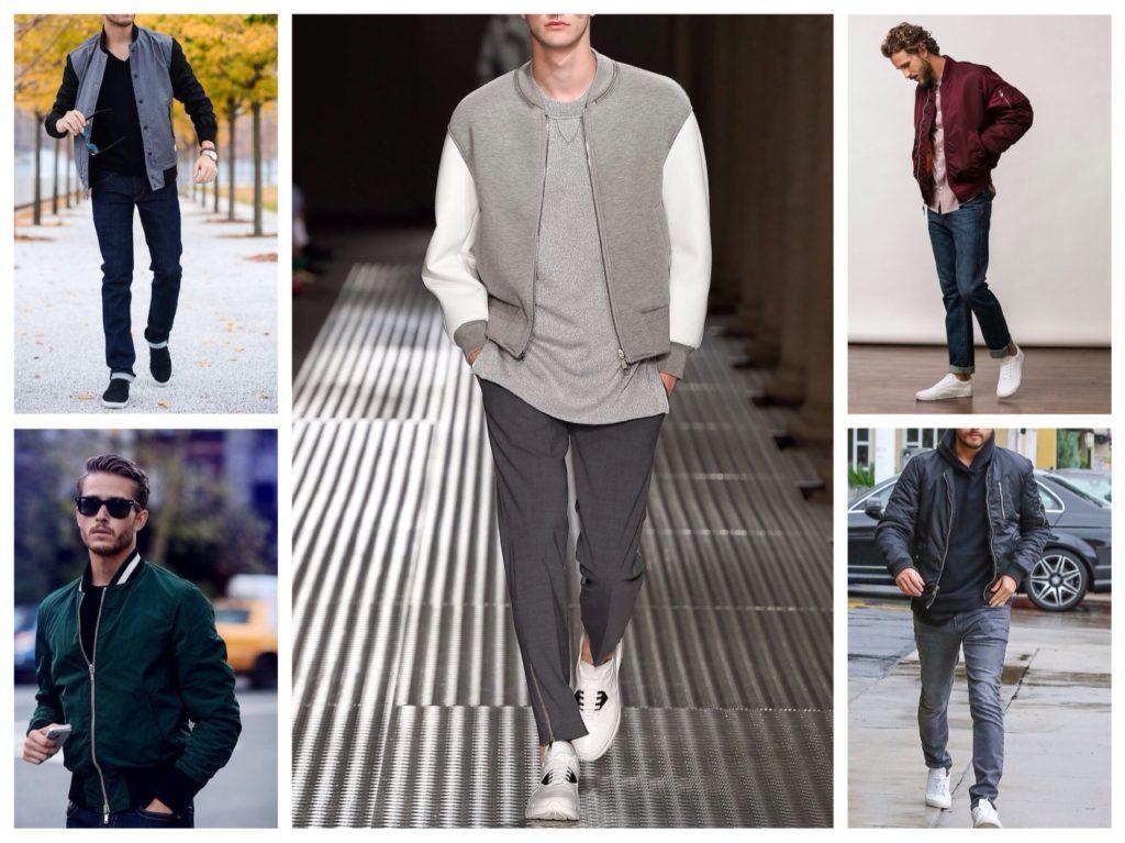 мужские короткие куртки бомберы