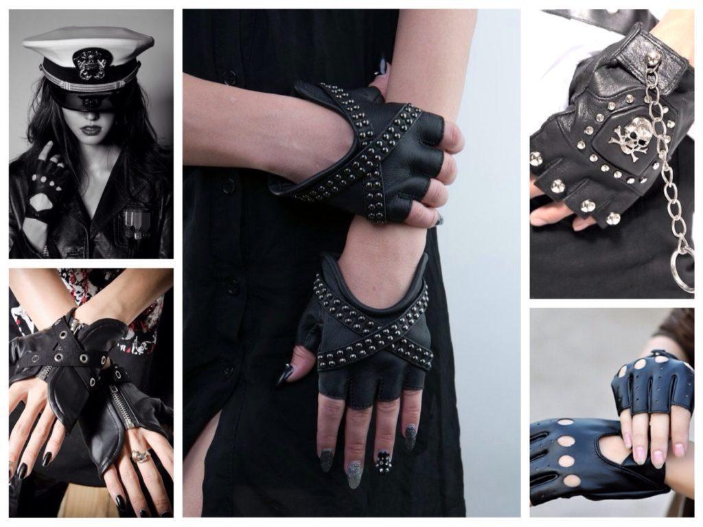 перчатки в рок стиле