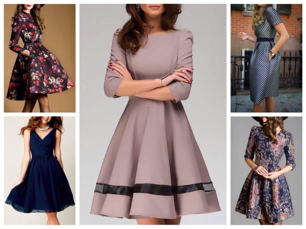 расклешенные платья для нового года