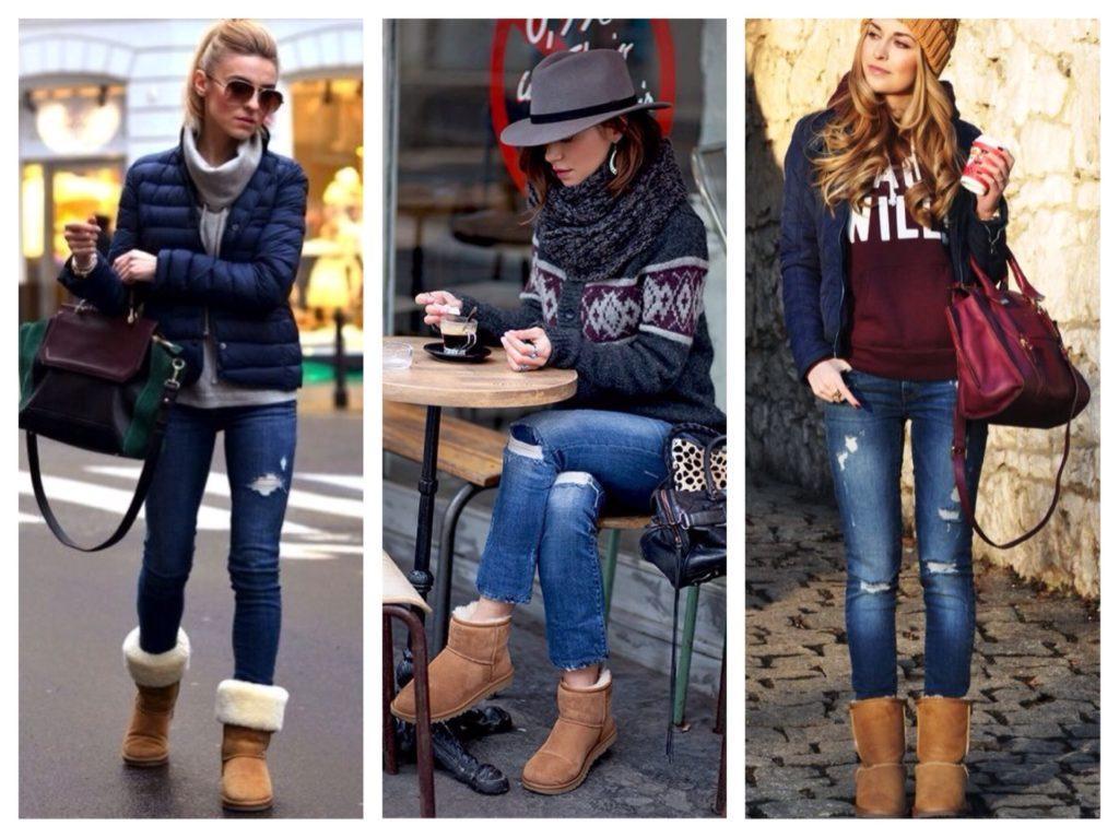 образы угги и джинсы