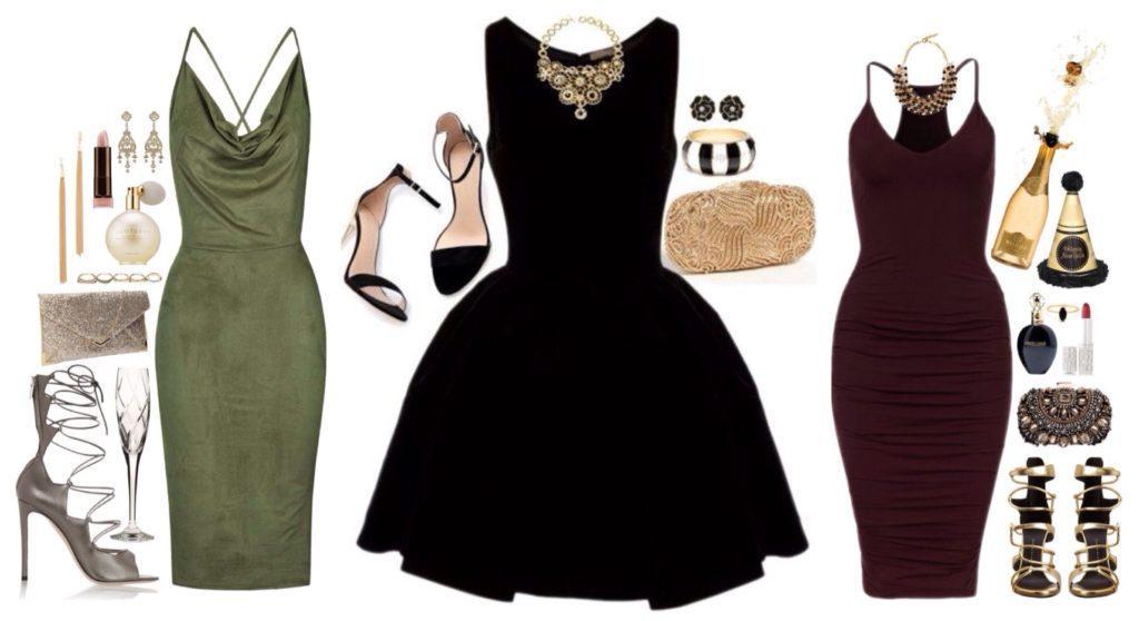 комплекты с платьем на новый год