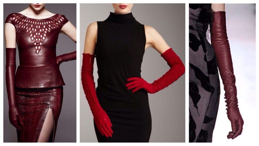 перчатки с платьем