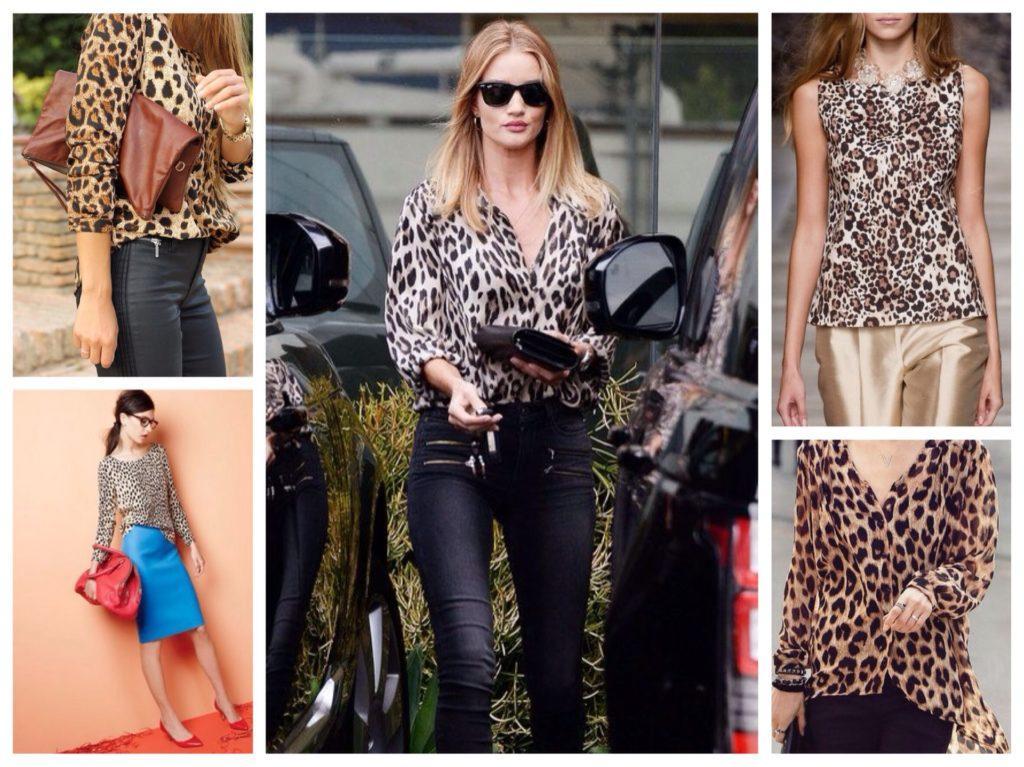 леопардовые блузки и топы