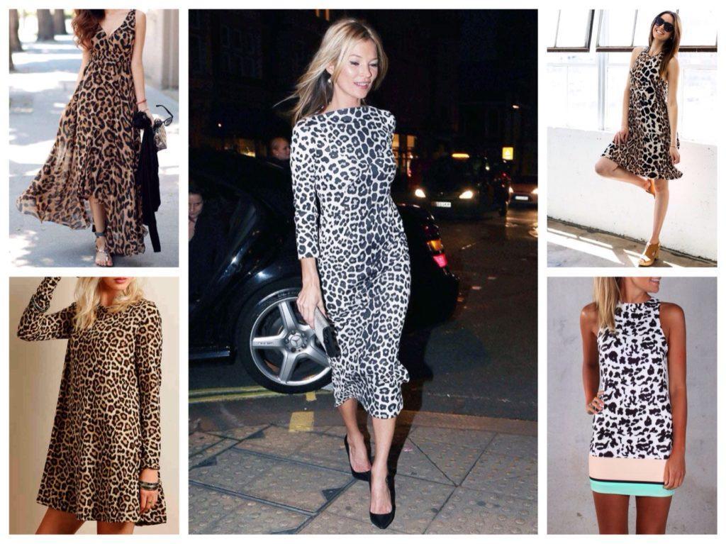 леопардовые платья
