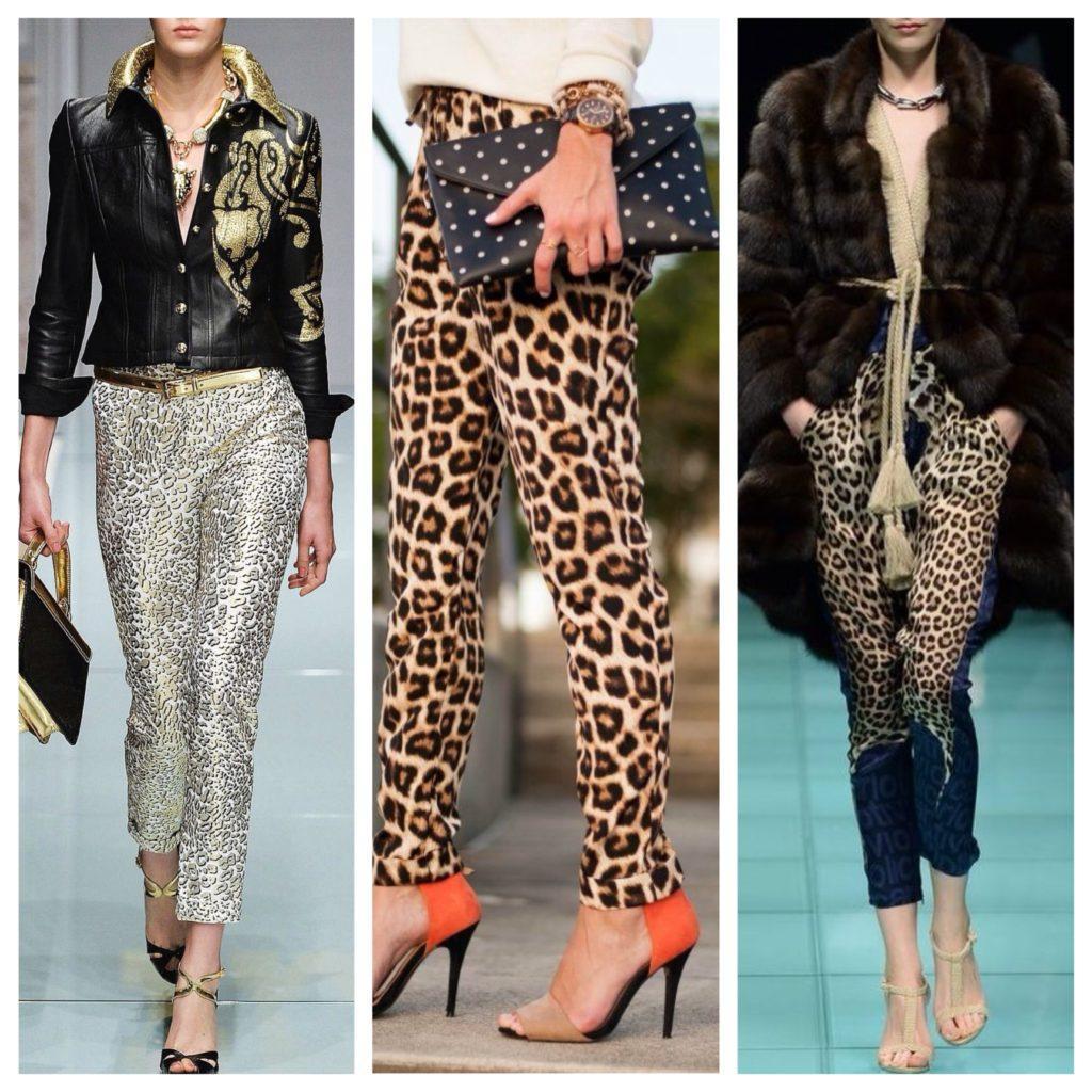сочетания с леопардовыми брюками