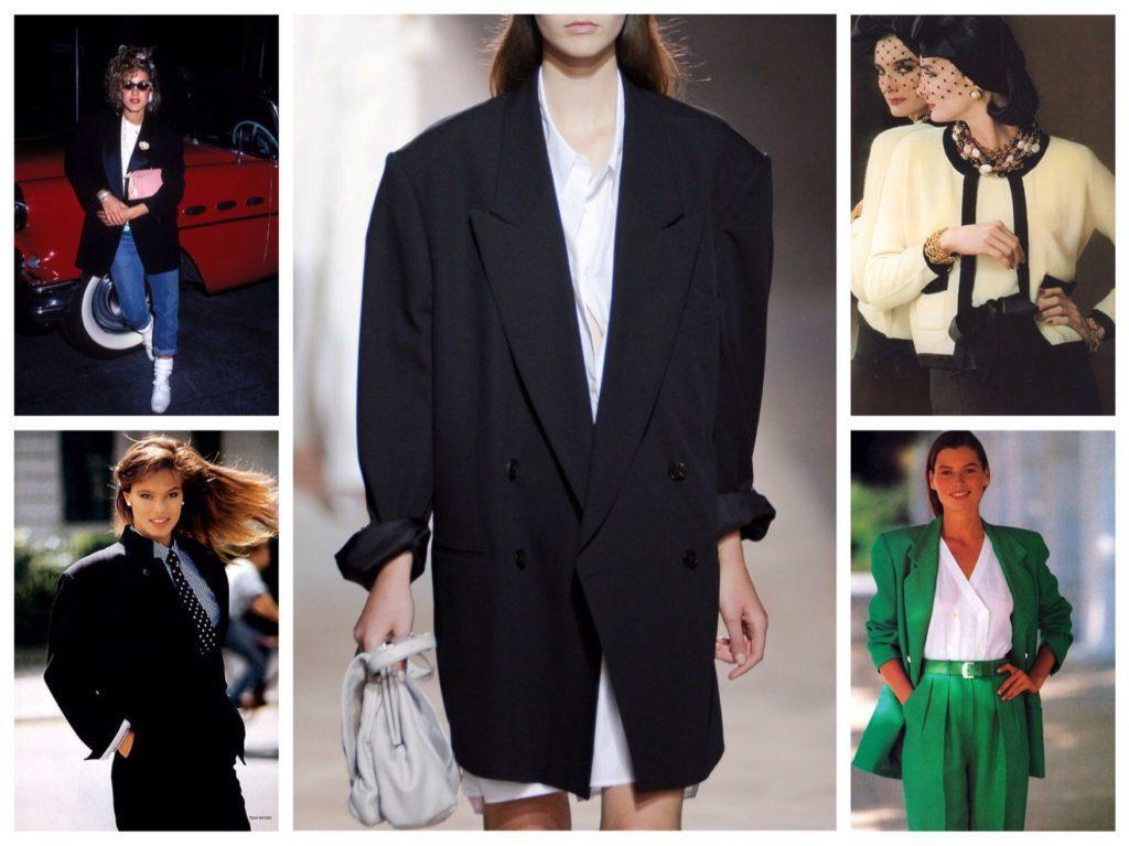 жакеты и пиджаки 80х годов