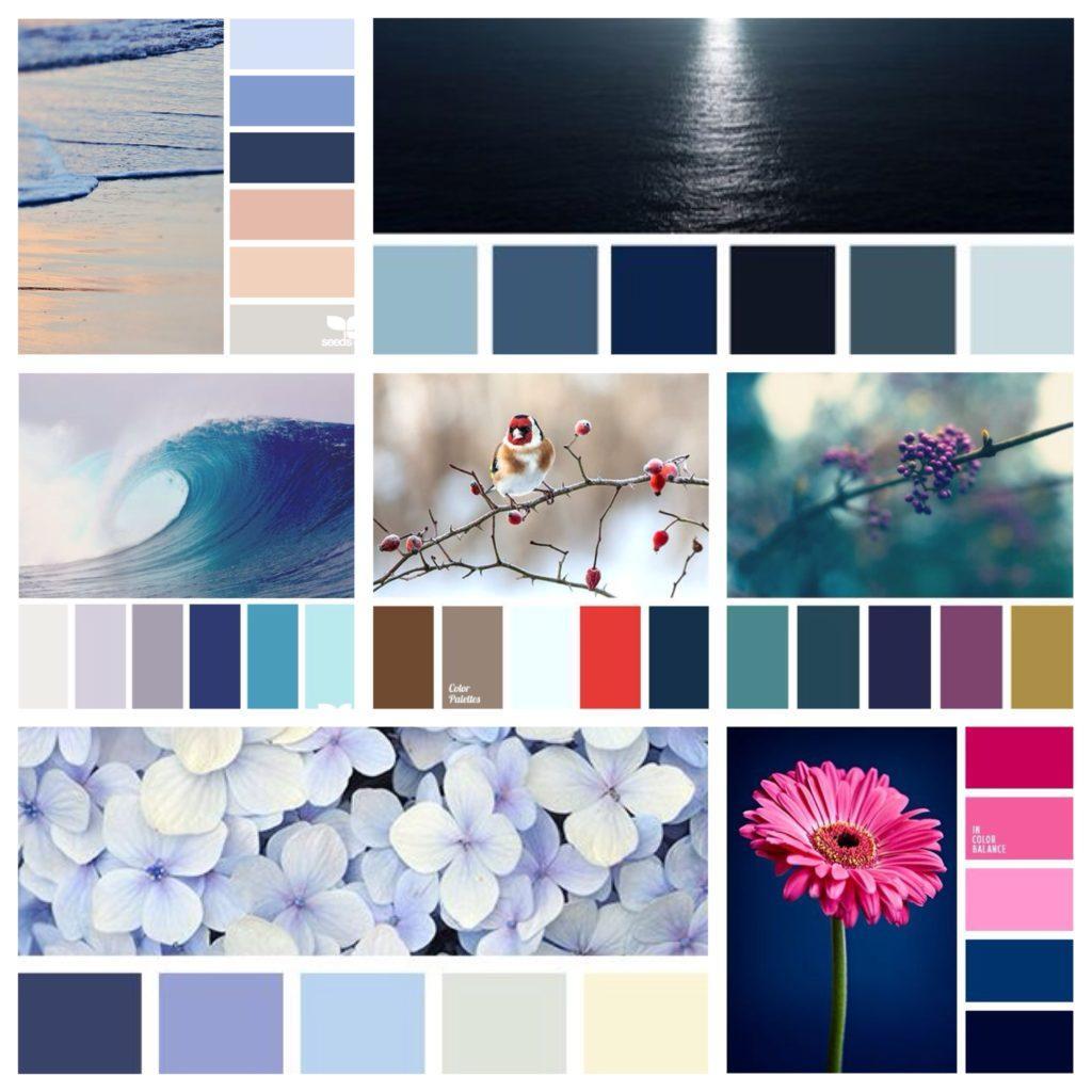 основные сочетания цветов с темно синим