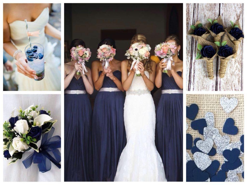 темно синий в декоре свадьбы