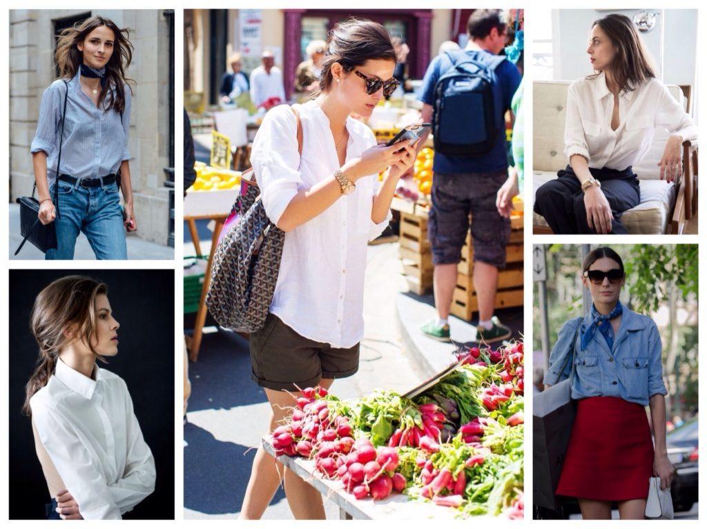 блузки и рубашки во фрацузских комплектах