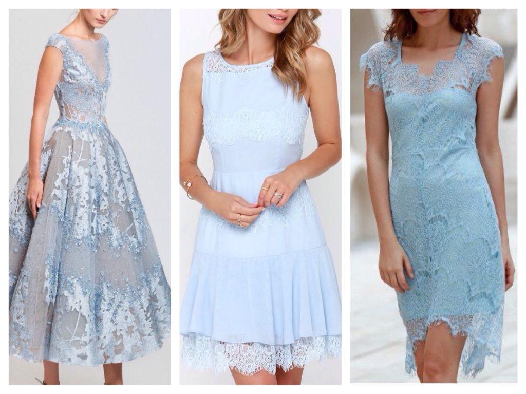 голубое платье на выпускной